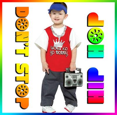Hip Hop T Shirt Boy's Originale Bambino Ragazzo Dance Danza