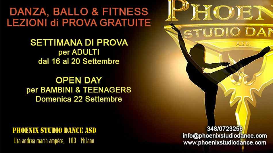 settimana di prova gratuita e open day phoenix studio dance