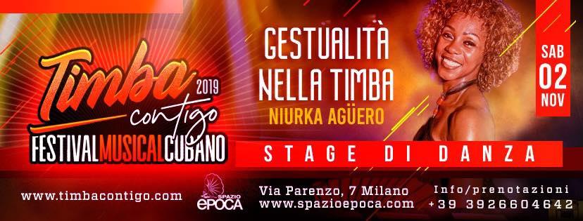 stage di gestualità con Niurka Aguero a Milano